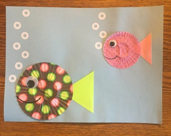 Cup Cake Liner Fish