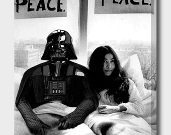 Darth Vader in bed with Yoko Ono