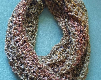 Fall Colors Crochet Infinity Scarf