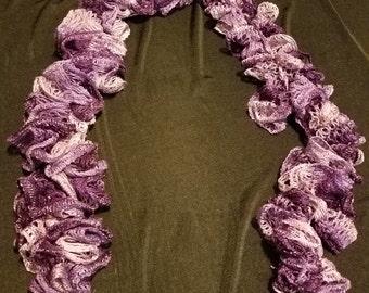 Purple Ruffle Scarf (RS3007)