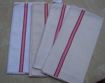 4 nice dishcloths, striped red