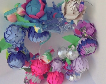Perriwinkel Protea Wreath