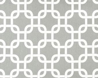 Premier Prints Gotcha White/Storm Twill Fabric by the Yard - Ready to ship