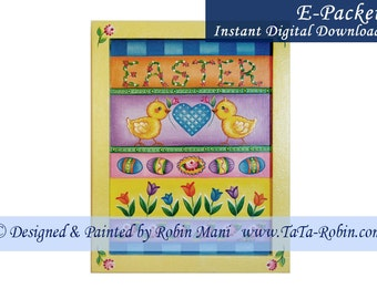 324E E-PACKET Easter Sampler I Decorative Painting Pattern Digital - Instant Download