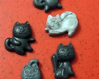 Black and White Cat Soaps - Choose your Scent - Pack of 5