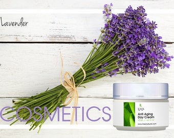 Anti-Aging Day Cream. Natural ingredients, Antioxidants, Natural skin care, Natural Moisturizer, facial care, Anti-wrinkles. Essential oils.