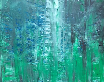 Atalis - Small Abstract Painting by Teddy Engel