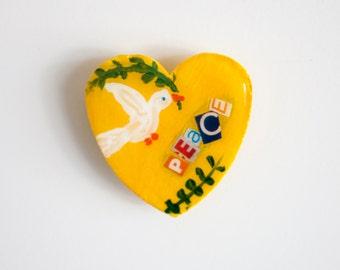 "Heart Shaped ""Peace"" Magnet"