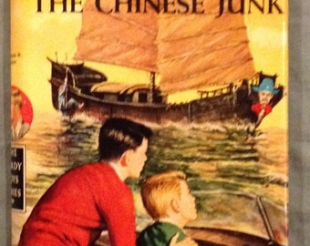 Hardy Boys - The Mystery of the Chinese Junk by Franklin W. Dixon in Dust Jacket