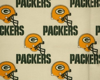 NFL Greenbay Packers 100%Cotton V2 Fabric by the yard (IST3)