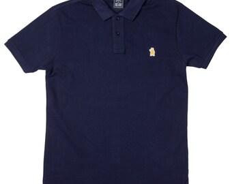 Men's Organic Cotton Navy Polo Shirt