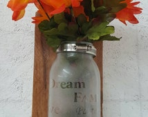 Handmade barnwood and oak votifs. Hang up or stand up. Use for flowers,candle and more. Nice wedding or birthday gift.