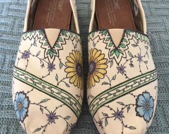 Custom, Hand Drawn Floral Toms