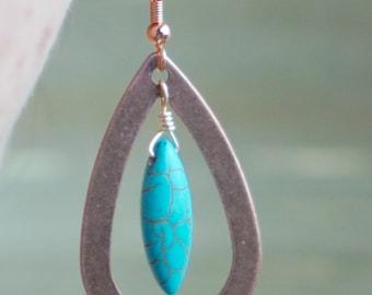 Copper & Turquoise Earrings
