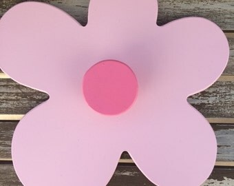 Clothes Hook. Daisy Clothes Hook. Pink/Pink, Lime/Pink,Mauve/Pink. Beautiful addition to any little girls room, playroom or nursery.