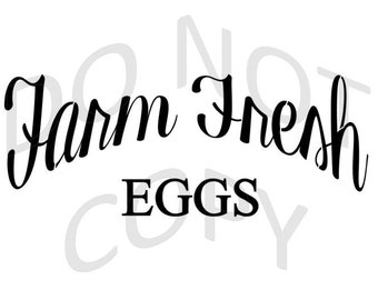 Reusable Stencil - Farm Fresh Eggs - Many Sizes to Choose from!