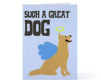 Angel Dog Blank Card