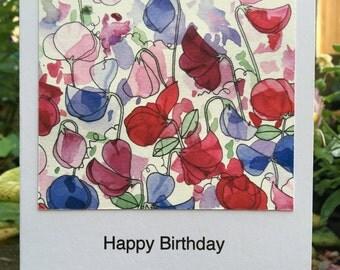 Sweetpeas Greetings Card