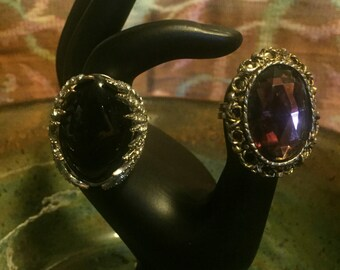 Two Big Honkin' Sparkly Rings