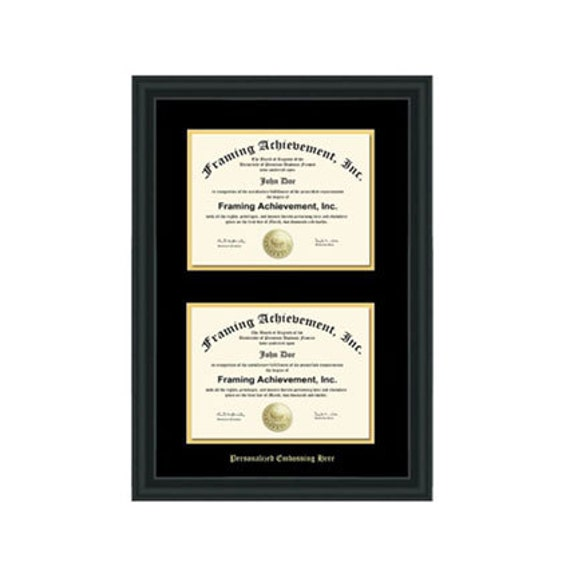 Double University Diploma Frame Double Certificate College
