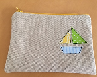 Sail Boat Zippered Pouch
