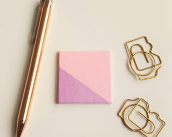 Pink and Purple Magnet - Pink Magnet - Refrigerator Magnet - Purple Magnet - Patterned Magnet