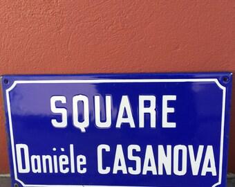 Old French Street Enameled Sign Plaque - vintage casanova