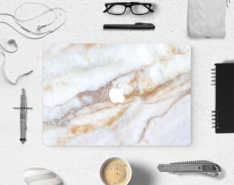 Gradient Marble Grain Front Top Cover Decal Laptop Sticker For Apple Macbook Air 13 13.3 inch