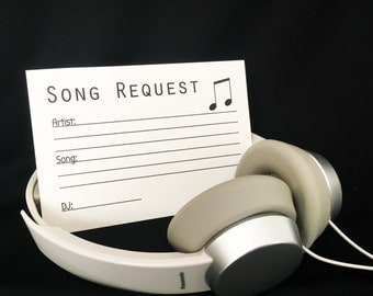 Song Request Cards - Wedding - Instant Download - Printable Cards - PrintedLotus