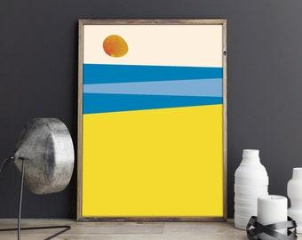 Minimalist Print, Abstract Wall Art, Beach Prints, Abstract Art, Minimalist Poster, Abstract Print, Modern Art, Beach Poster, Minimalist Art
