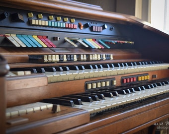 Pianio Organ Church Photography Fine Art Wall Print