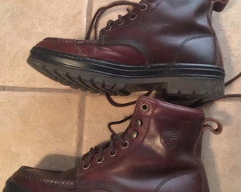 Vintage Womens Timberland Brown Leather Moccasin Boots 9.5