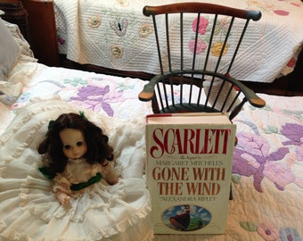 Scarlett O'Hara Doll and Chair