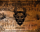 Ouija Board with Planchette -Pure Evil Burnt Design Board by OccultBoards.com