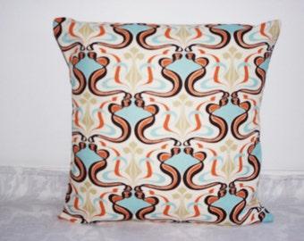 SALE  Pillow covers Pillow case Outdoor Pillows Decorative  blue brown pillow orange pillow 18 x18, 16X16, 14x16, 14x14, 12x16, 12x12, 10x10