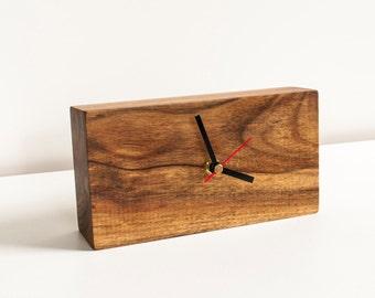 Natural Wood Clock - Rustic Clock - Home and Living, Handmade Desk Clock, Home Decor, Housewarming Gift - Rustic Table Decor, Reclaimed Wood