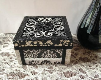 Black and White Trinket Box