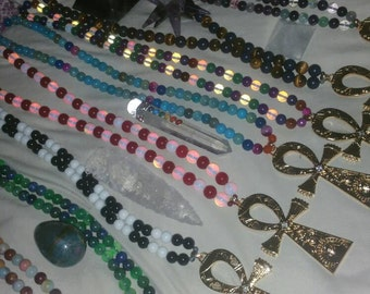 Large *Powerful* Beaded Ankh Necklaces, One of a kind Pick and choose!