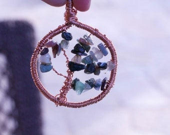 Tree of Life Pendant with Jasper Beads