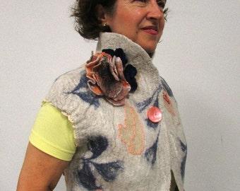 vest from wool ooak felted