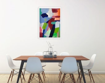 "Fine art print of original contemporary modern abstract painting ""Daydream 1"" vibrant, colorful, uplifting interior decor design"