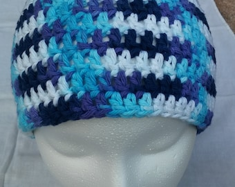 Purple and Blue beanie hat