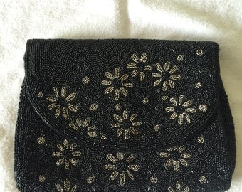 Vintage hand made beaded evening clutch