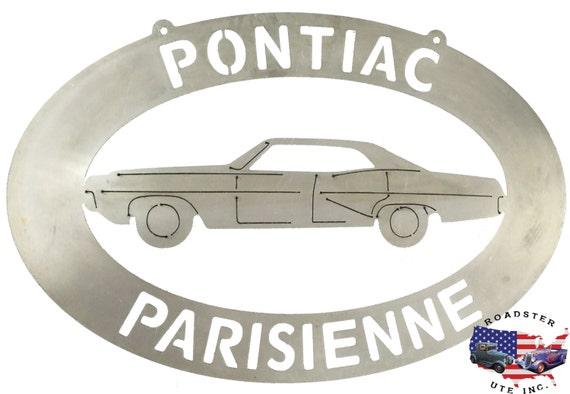 Pontiac Parisienne Garage - Plasma Cut Metal Shop Sign