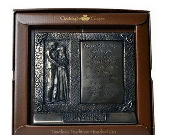 "Bronze Irish Wedding Blessing Plaque 6"" [TF13]"
