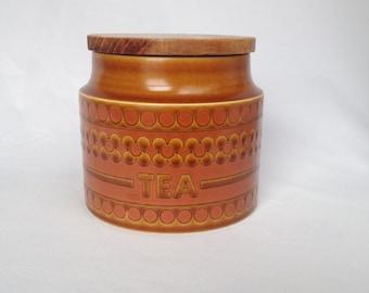 Hornsea Saffron tea canister, small