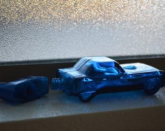 Vintage Avon Car Bottle//Blue '55 Thunderbird//Glass Car Cologne Bottle