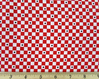 Tea Time Checkered Red Fabric From Quilting Treasures