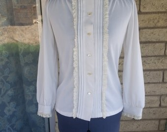 Vintage land and sea blouse  SALE
