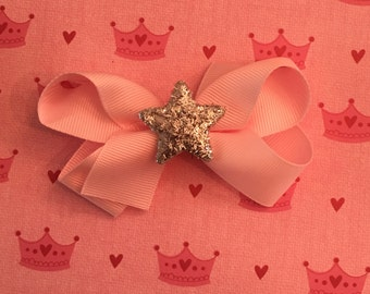 bows with big glittery star charm